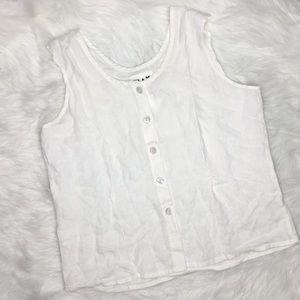 FLAX 100% linen sleeveless top sz s